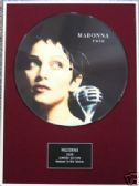 "MADONNA - Framed 12"" Picture Disc - RAIN"